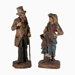Commoners Giuseppe Vaccaro and Giacomo Bongiovanni Sculptures, Set of 2