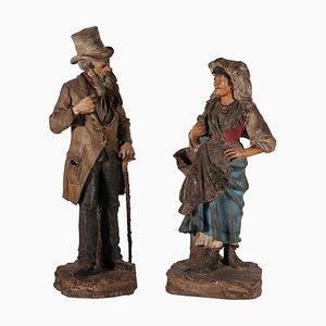 Commoners Giuseppe Vaccaro und Giacomo Bongiovanni Skulpturen, 2er Set