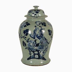 Vintage Urne aus Porzellan mit Deckel