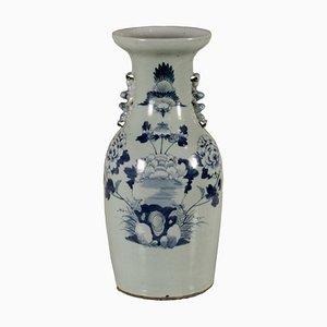 Vase mit Blauen Verzierungen, China, 1900er
