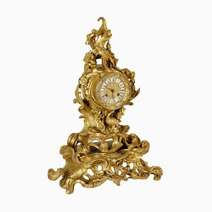 Mantel Clock in Gilded Bronze and Iron, France, 1800s