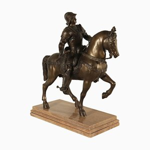 Sculpture en Bronze de Bartolomeo Colleoni, Italie, 20ème Siècle