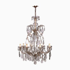 Maria Theresa Chandelier in Glass, Italy, 19th Century
