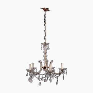 Vintage Maria Teresa Chandelier in Iron and Glass