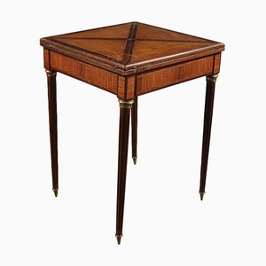 Game Table in Mahogany and Tulipwood, Italy, 20th Century