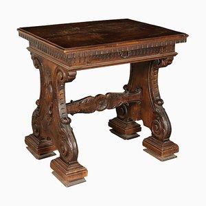 Kleiner Tisch aus Nussholz, Italien, 20. Jahrhundert