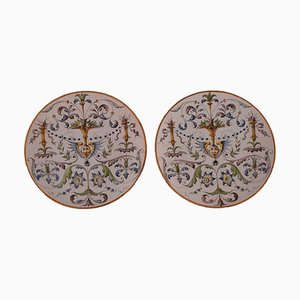 Antique Plates in Ceramic from Ginori, Italy, Set of 2