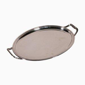 Zaramella Padua Silver Tray, Italy, 20th Century
