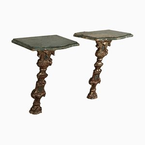 Pensile Consoles in Wood, Italy, 18th Century, Set of 2