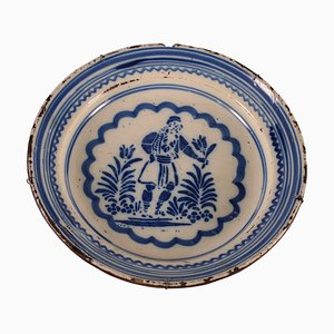 Majolica Plate in Ceramic, Italy, 19th Century