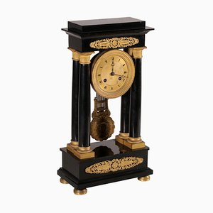 Temple Clock in Bronze and Marble from Stiennon à Paris, France, 19th Century