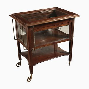 Small Table-Service Trolley in Mahogany, Italy, 20th Century