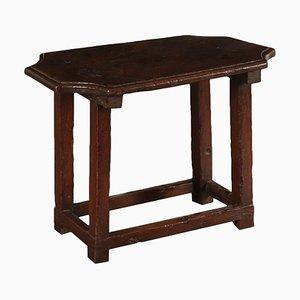 Kleiner italienischer Vintage Buchenholztisch aus Walnuss und Traubeneiche
