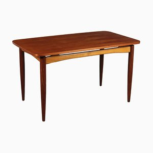 Italian Beech, Rosewood, and Teak Veneer Dining Table, 1960s