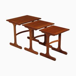 Mesa de centro de chapa de madera y teca de G-Plan, años 60