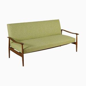 Italienisches Vintage Sofa aus gebeizter Buche, 1950er