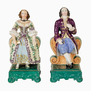 19th Century French Porcelain Perfume Holders, Set of 2