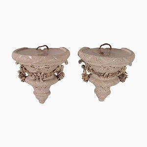 Mensole antiche in ceramica, set di 2