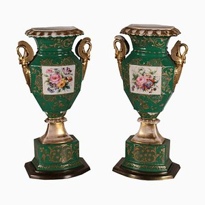 19th Century Ceramic Vases, Set of 2