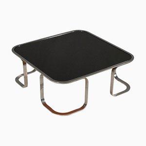Small Italian Metal and Glass Coffee Table, 1970s
