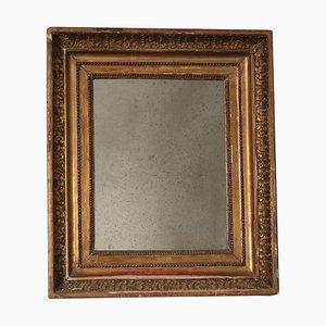 Italienischer Spiegel mit vergoldetem Holzrahmen, 19. Jh