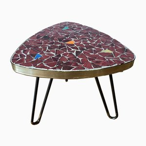 Plant Stool with Mosaic Slab on Hairpin Legs, 1950s