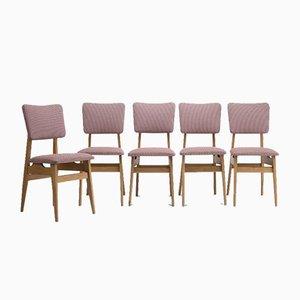 Model 200-178 Chairs by Hałas for Bytomskie Fabryki Mebli, 1960s, Set of 5