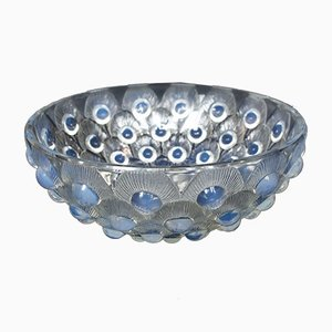 Peacock Feathers Glass Bowl, 1930s