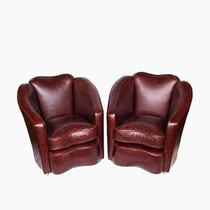 Tub Lounge Chairs, 1930s, Set of 2