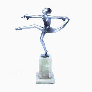 Scarf Dancer Sculpture by Josef Lorenzl, 1920s