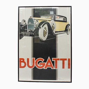 Bugatti Poster by Rene Vincent, 1980s