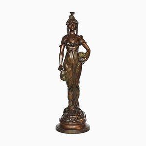 Antike Odalisque Skulptur von Paul Célestin Nanteuil-LeBoeuf