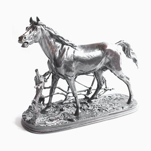 Sculpture Etalon Djinn Antique par Pierre-Jules Mêne