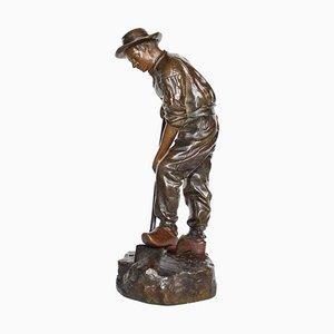 Escultura Digger antigua de Jean Garnier