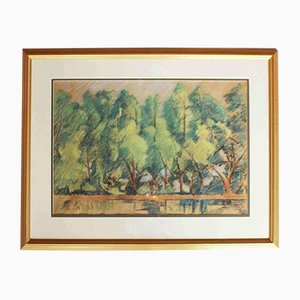 Landscape with Trees Painting by Elliott Seabrooke, 1920s