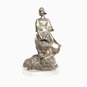 Bronze Figure Sculpture by Fanny Rozet, 1930s