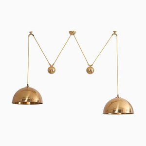 Double Posa Pendant Lamp with Side Counter Weights by Florian Schulz, 1970s