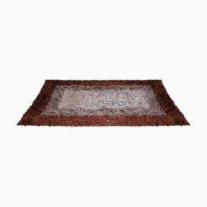 Hand-Loomed Teppich aus Leder von Jack Lenor Larsen für Harry Flitterman, 1960er