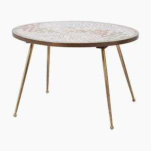 German Elliptical Mosaic Coffee or Side Table from Ilse Möbel, 1950s