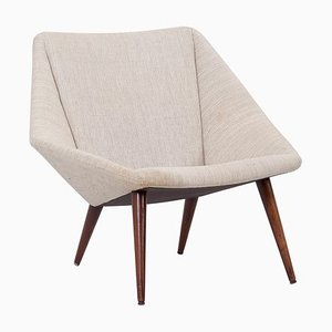 Danish Low Back No. 93 Lounge Chair by Nanna Ditzel for Soren Willadsen, 1950s