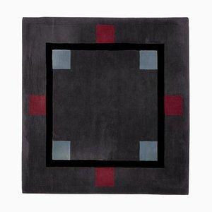 Quadratischer Geometrischer Wollteppich von Ulf Moritz, Deutschland, 1990er