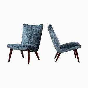 German Lounge Slipper Chairs by Arno Votteler for Walter Knoll, 1950s, Set of 2