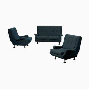 Italienisches Regent Sofa und Sessel Set von Marco Zanuso für Arflex, 1960er, 3er Set