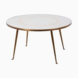 German Round Mosaic Side Table by Berthold Muller, 1950s