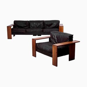 Italian Sofa and Lounge Chair Set by Afra & Tobia Scarpa for Maxalto, 1970s, Set of 2
