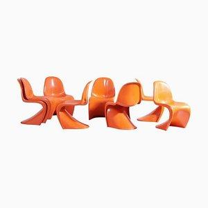 Panton Esszimmerstühle von Verner Panton für Herman Miller, 1970er, 8er Set