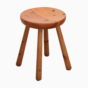 Stool in Pine by Charlotte Perriand for Les Arcs, 1960s