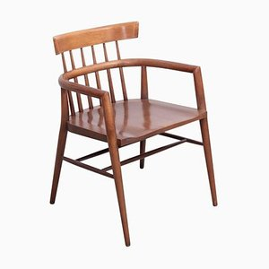 Stained Solid Maple Planner Group Armchair by Paul McCobb for Winchendon Furniture, 1950s