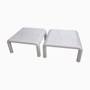 Marble Coffee or Sofa Tables by Gae Aulenti for Knoll, Italy, 1970s, Set of 2