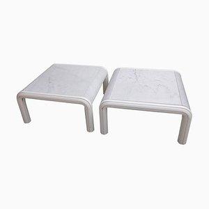 Tavolino da caffè o da caffè in marmo di Gae Aulenti per Knoll, Italia, anni '70, set di 2